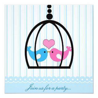Lovebirds Party Invitation