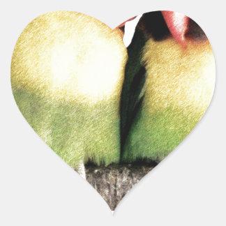 Lovebirds Pegatina En Forma De Corazón