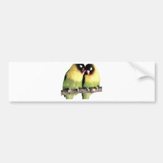 Lovebirds Pegatina Para Auto