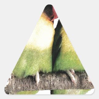 Lovebirds Pegatina Triangular