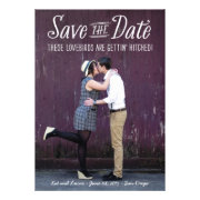 Lovebirds photo save the date card