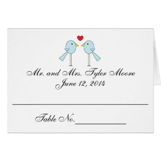 """""""Lovebirds"""" Place Cards"""