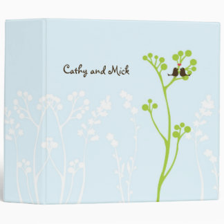 "Lovebirds (Powder Blue) 2"" Binder"