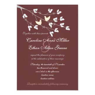 Lovebirds que casan la invitación invitación 12,7 x 17,8 cm