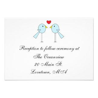 """""""Lovebirds"""" Reception Cards"""