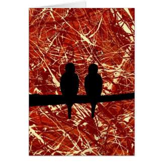 LOVEBIRDS - REMAINS OF THE DAY (bird design) ~ Greeting Card