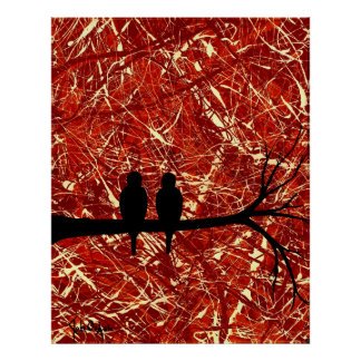 LOVEBIRDS: REMAINS OF THE DAY (large) (bird art) ~ Poster