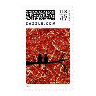 LOVEBIRDS - RESTOS DEL DÍA ~.jpg (lleno) Timbre Postal