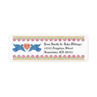 Lovebirds Return Address Label