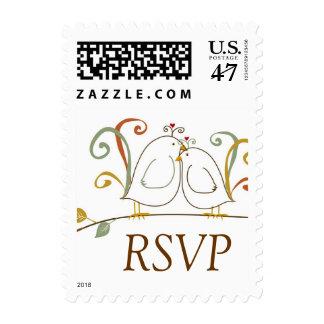 Lovebirds RSVP stamps