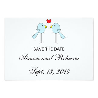 """""""Lovebirds"""" Save the Date Cards 3.5"""" X 5"""" Invitation Card"""