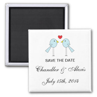 """Lovebirds"" Save the Date Magnets"