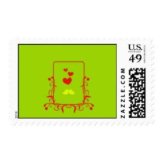 Lovebirds Stamp