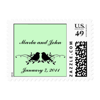 Lovebirds Stamp  - SMALL