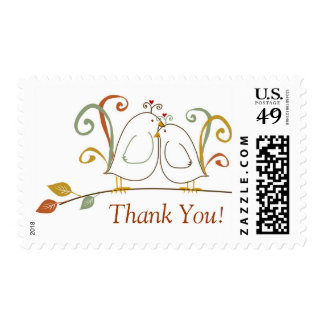 """Lovebirds, """"Thank You"""" Postage"""