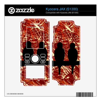 LOVEBIRDS: THE REMAINS OF THE DAY! (abstract art) Skin For Kyocera JAX