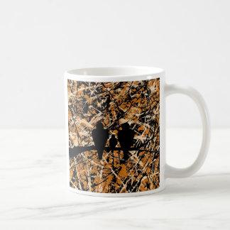 LOVEBIRDS: THREE'S COMPANY (bird design) ~ Coffee Mug