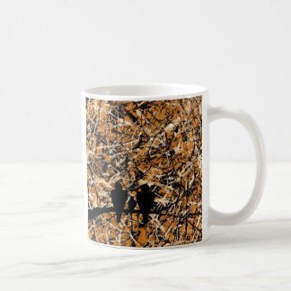LOVEBIRDS - THREE'S COMPANY (bird design) ~ Classic White Coffee Mug