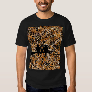 LOVEBIRDS - THREE'S COMPANY (bird design) ~ T-Shirt