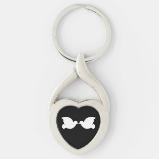 Lovebirds / Twisted Heart Metal Keychain