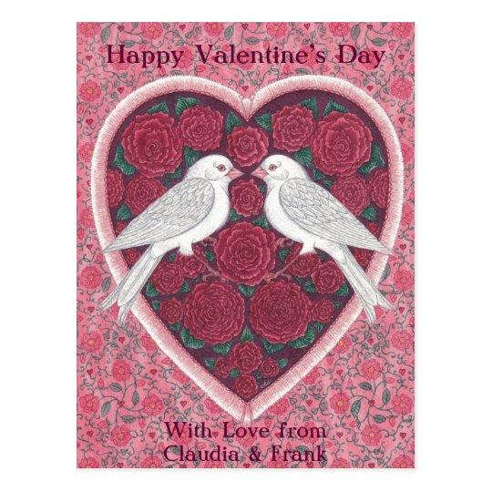 Lovebirds Valentine Postcard