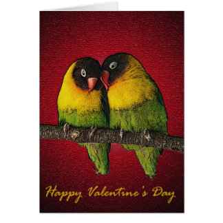 Lovebirds Valentine's Day Card