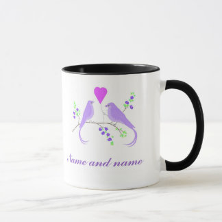 Lovebirds Wedding Accessories, Mugs