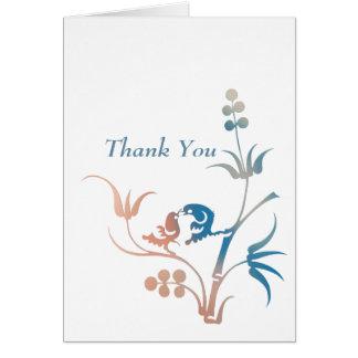 Lovebirds Wedding Appreciation Card