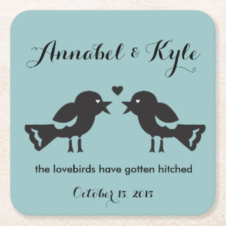 Lovebirds Wedding Coaster