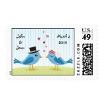 Lovebirds wedding date stamp