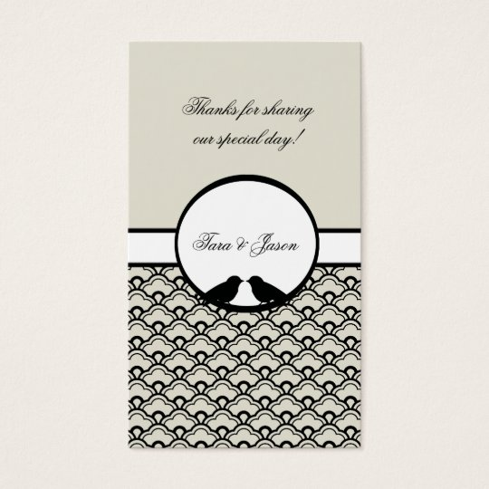 Lovebirds Wedding Favor Gift Tags