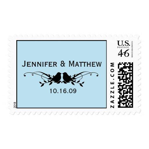 Lovebirds Wedding Stamps