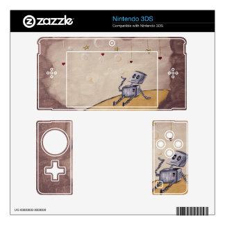 Lovebot Nintendo handheld device skins Skins For Nintendo 3DS