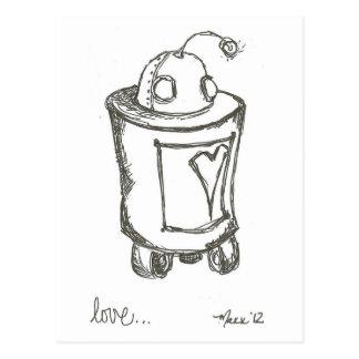 Lovebot Robot Love Postcard