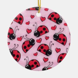 Lovebug Ceramic Ornament