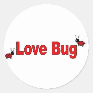LoveBug Pegatina Redonda