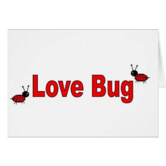 LoveBug Tarjeta De Felicitación