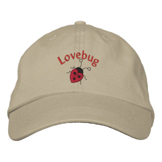 LoveBug with Ladybug Embroidered Baseball Hat