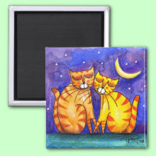 LoveCats - Magnet - Kitty love under the stars...