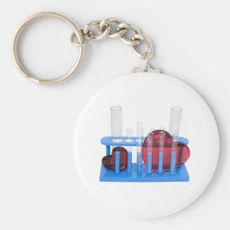 LoveChemistry071209 Basic Round Button Keychain