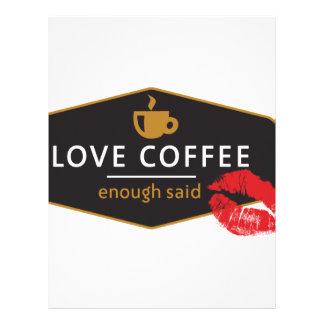LoveCoffee Membrete Personalizado