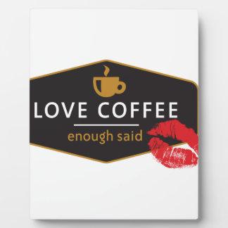 LoveCoffee Placas Con Foto
