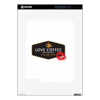 LoveCoffee iPad 2 Calcomanías