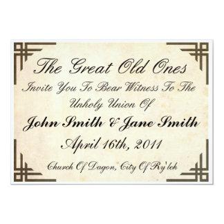 Lovecraft Inspired Wedding Invitation