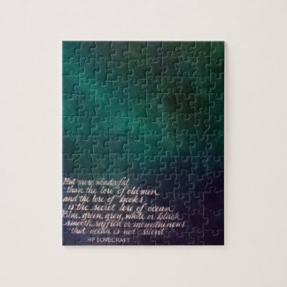Lovecraft Lore of Ocean Painting Calligraphy Jigsaw Puzzle