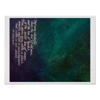 Lovecraft Lore of Ocean Painting Calligraphy Poster