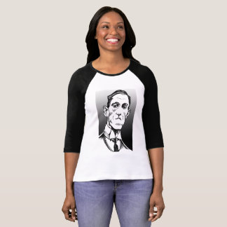 Lovecraft Portrait, Lovecraft shirt, baseball tee