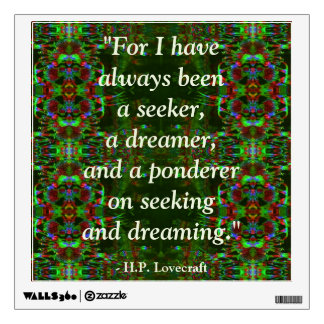 Lovecraft Quote Fantasy Art Wall Decal