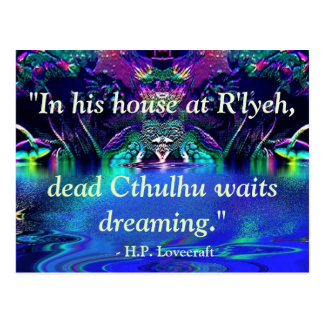 Lovecraft Quote Postcard