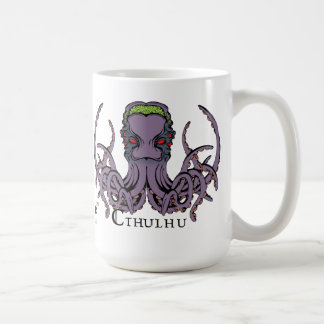 Lovecraftian Flair Mug: Cthulhu 2 Color Ink Classic White Coffee Mug